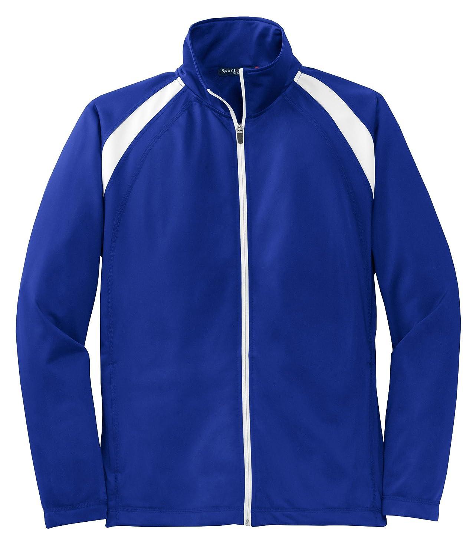 Tricot Track Jacket.,Medium,True Royal//White Sport-Tek
