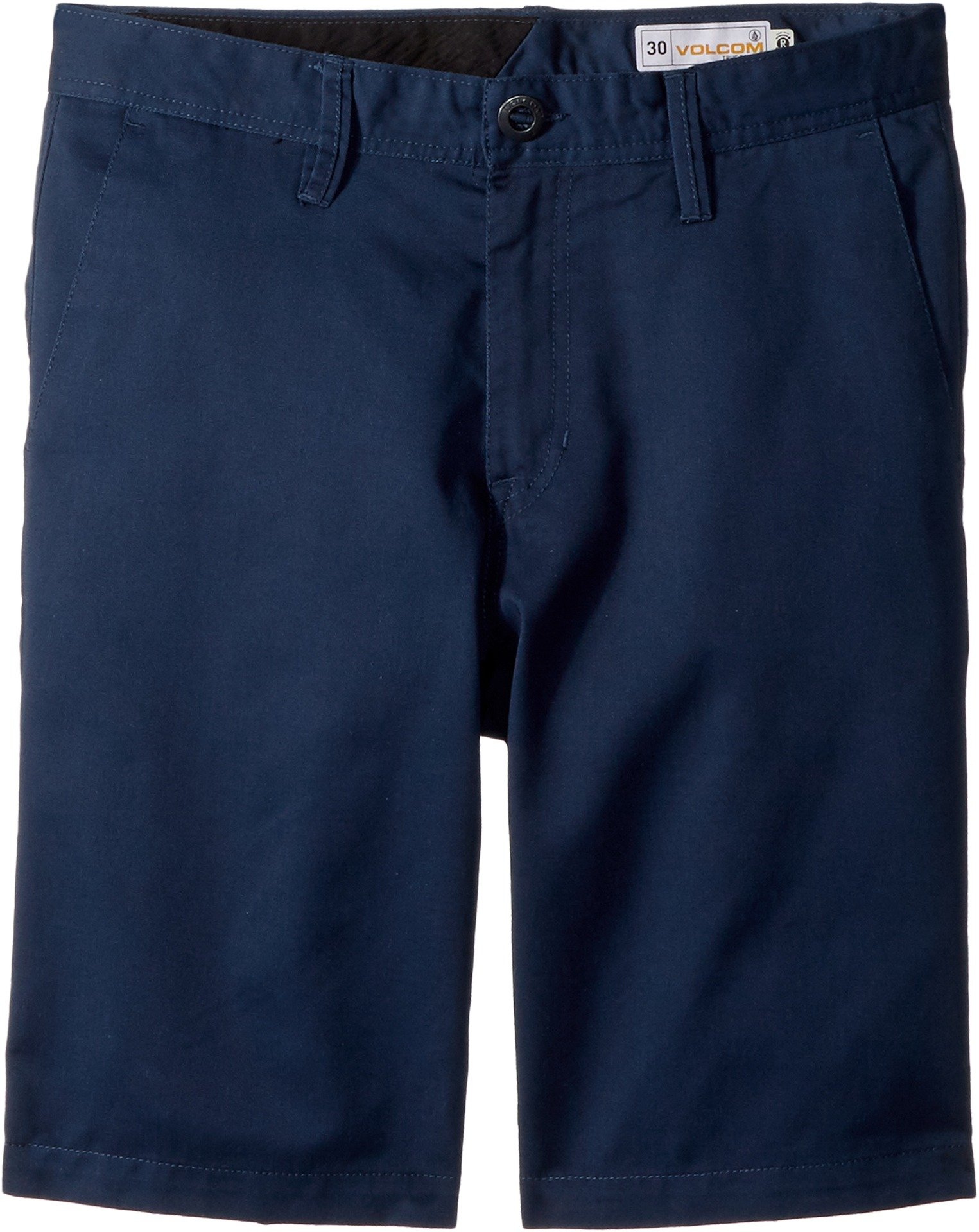 Volcom Kids Boy's Frickin Chino Shorts (Big Kids) Service Blue 25 (10 Regular Big Kids)