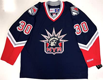 """3b34db9c48d Image Unavailable. Image not available for. Color: Henrik Lundqvist Ccm  Replica New York Rangers""""liberty"""" Jersey Xxl New With Tags"""