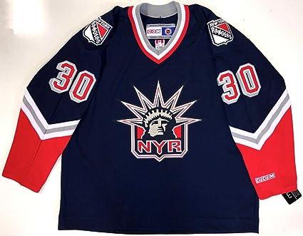 new arrival 60b9b db23a Henrik Lundqvist Ccm Replica New York Rangers