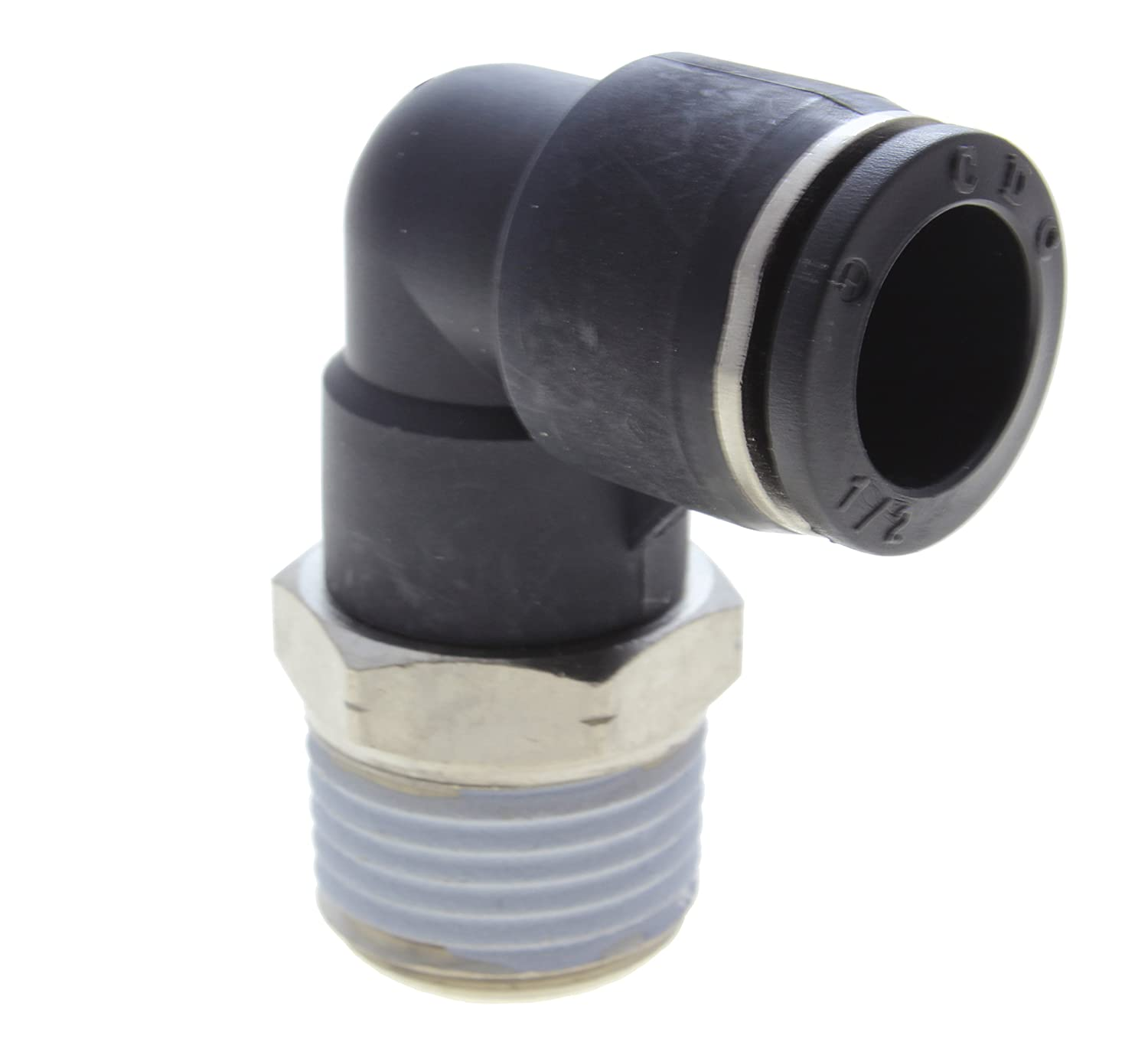Tube x 1//4 Male NPT 5//32 CDC Pneumatics Male Swivel Elbow Male TechniFit PL5//32-N2 Tube x 1//4 Male NPT Pbt Resin Pack of 10 5//32 Pack of 10 Push-to-Connect Fitting