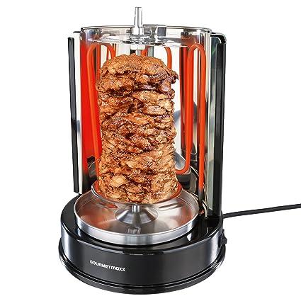 couleur rapide remise pour vente recherche d'officiel Gourmet Maxx Barbecue rôtisserie 1400 W (Döner Kebab avec tournebroche,  uniforme 360 ° de la chaleur, partie démontable avec passe au Ferme  Éléments)