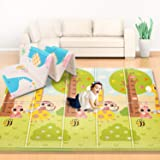Firares 0.6inch Thicken Foam Reversible Baby Play Mat, Foldable Kids Crawling mat, XL BPA Free Waterproof Floor Baby…
