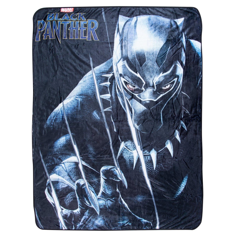 Marvel Black Panther Fleece Blanket - Officially Licensed Marvel Black Panther Movie Soft Silk Throw Bed Blanket by Marvel (Image #2)