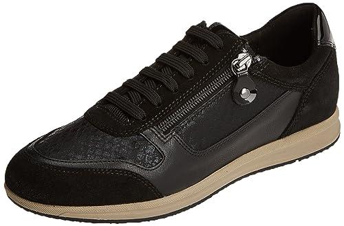 Geox D Deynna D, Zapatillas para Mujer, Negro (Black), 37 EU