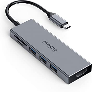 MECO ELEVERDE Hub USB C 6-en-1 Adaptador USB Tipo C Multifuncional ...