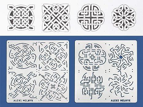 Aleks Melnyk 40 Schablonen Metall Stencils Vorlagen For Painting