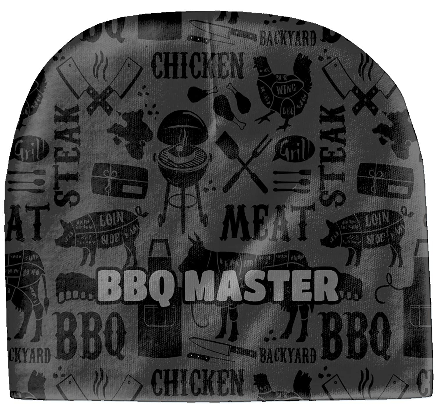 Grey Beanie RNK Shops Barbeque Baby Hat Personalized