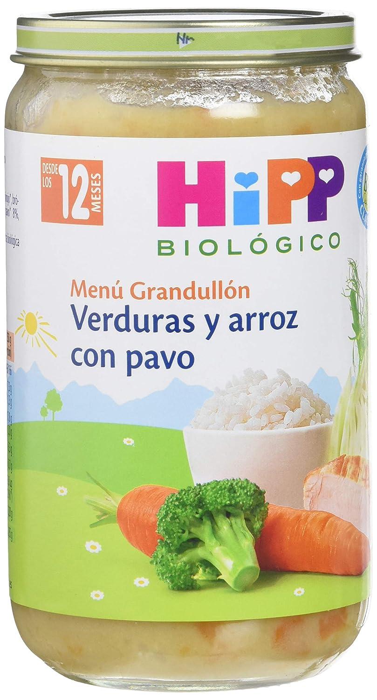 HiPP Biológico - Tarrito Verduras y Arroz con Pavo - 250 gr: Amazon.es: Amazon Pantry