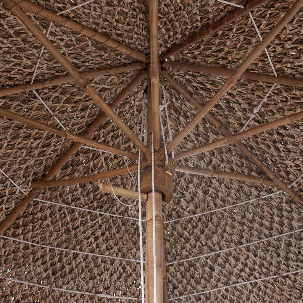 vidaXL Ombrellone da Giardino 210 cm in bamb/ù con Foglie di Banano Parasole