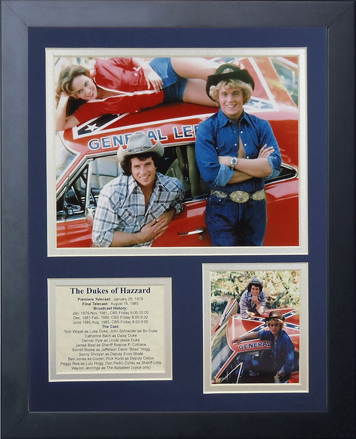 "Dukes of Hazzard 11"" x 14"" Framed Photo Collage by Legends Never Die, Inc. - General Lee"
