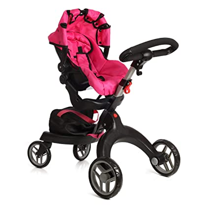 356e58438 Amazon.com: Mommy & Me SoCutie Doll Stroller with Swiveling Wheels and  Adjustable Handle. 31
