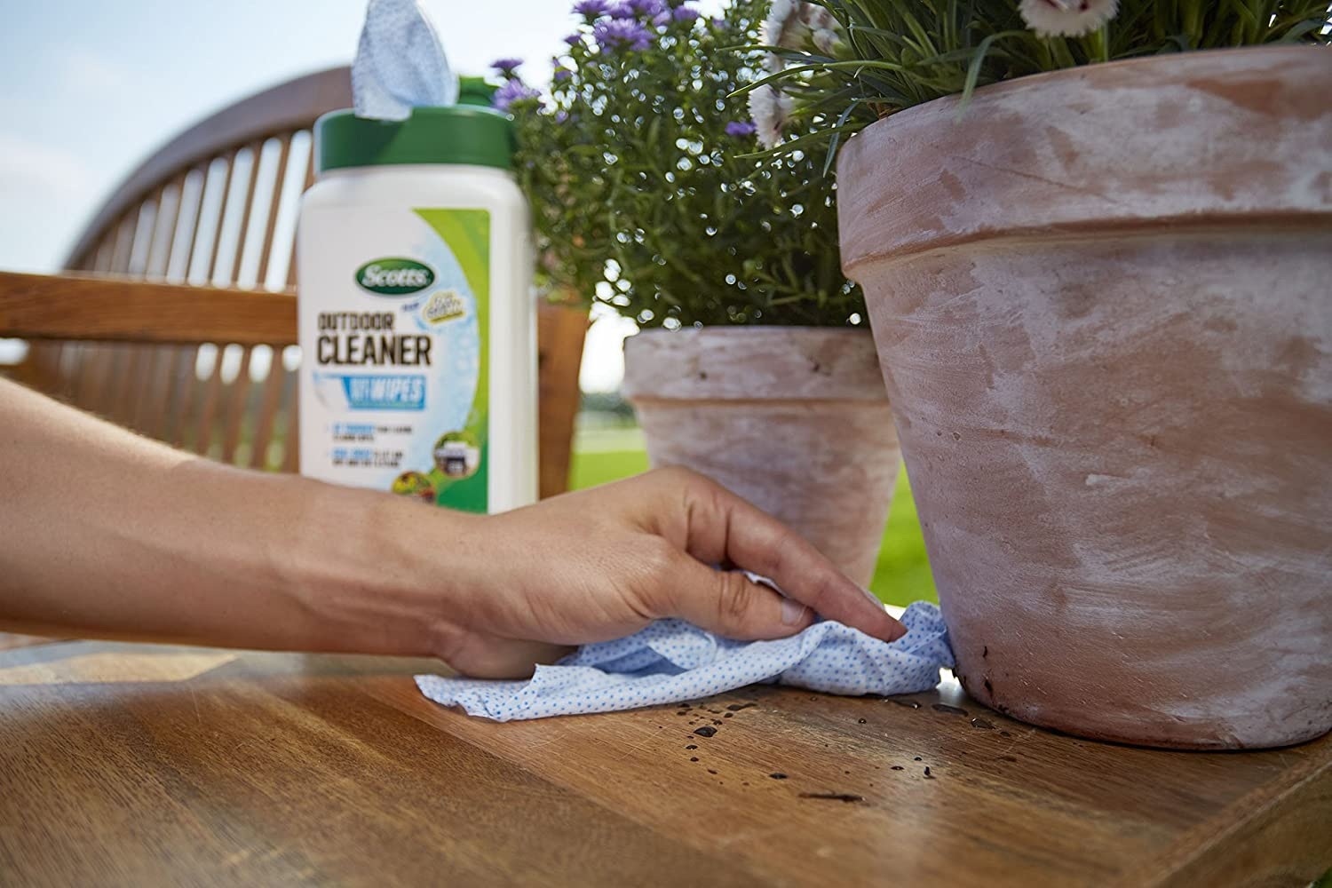 Scotts 51601 Plus Oxi Clean Outdoor Cleaner Wipes
