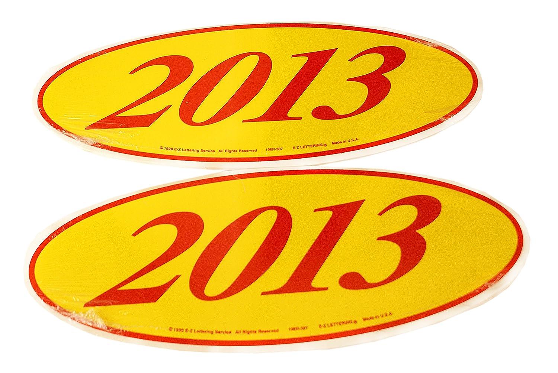 オーバルモデル年フロントガラスDealer 2ダースステッカーレッド/イエローウィンドウステッカー CDS-OVL-12x2 B076BMLPQ8 R/Y 2013 R/Y 2013
