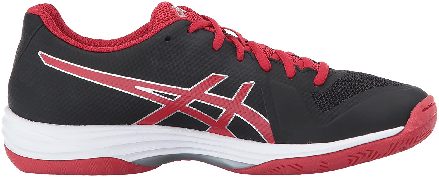 ASICS Women's Gel-Tactic 2 Volleyball Shoe B01N3MAFH8 10 B(M) US|Black/Prime Red/Silver