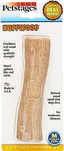 Petstages 491 Ruffwood Wooden Dog Chew Toy, Medium
