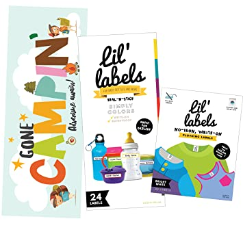 Camp Labels Value Pack - Write On Name Labels, Waterproof Labels for Camp  Basics and
