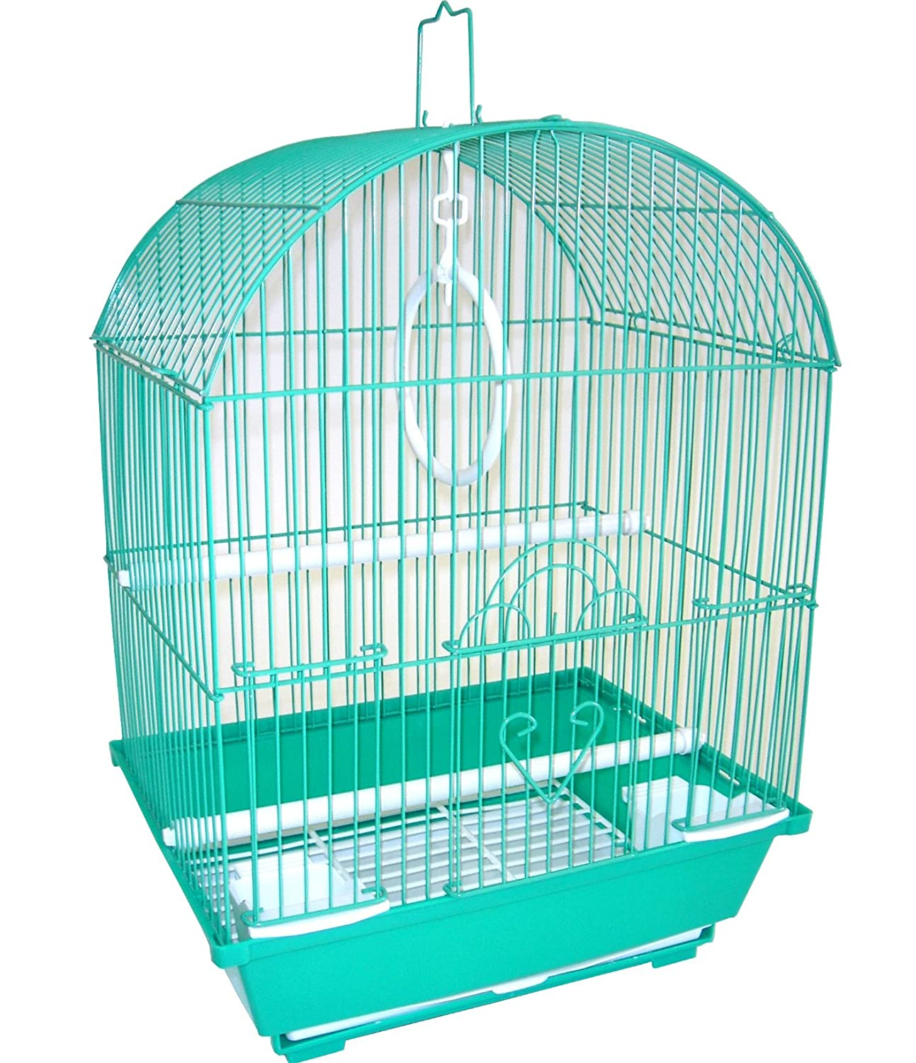 YML A1104GRN Round Top Style Small Parakeet Cage, 11 x 9 x 16 YML GROUP INC