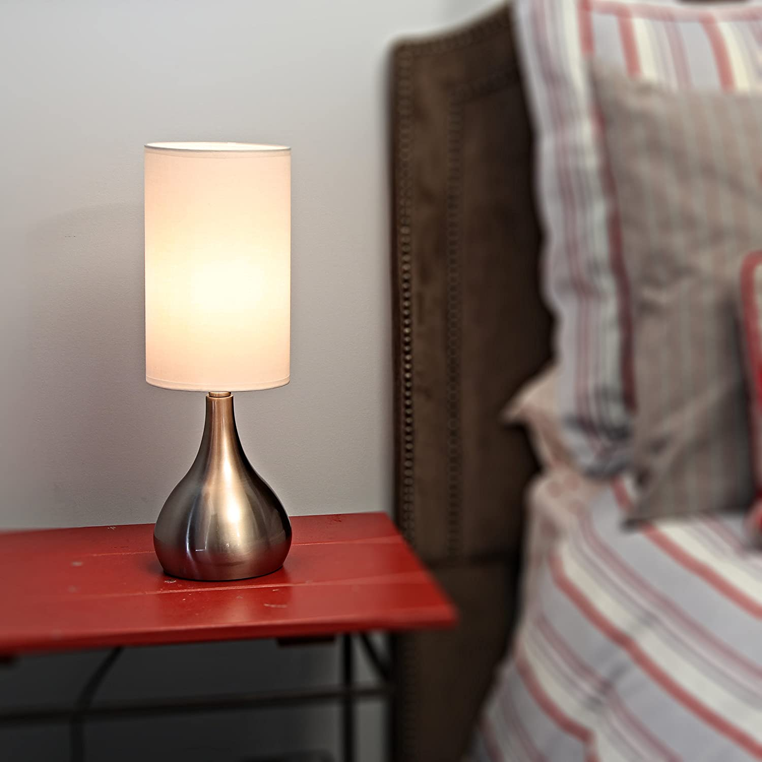 Light Accents Touch Table Lamp Modern 18 Inches Tall, Touch Dimmer ...