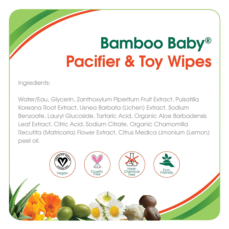 Aleva Naturals bambú bebé chupete de juguete y toallitas: Amazon.es: Salud y cuidado personal