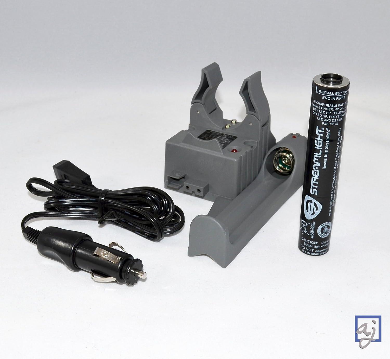 Streamlight Stinger PiggyBack Smart Charger 75277 w// Battery /& DC Cord Car