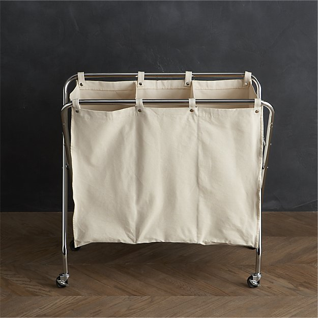 Three-Section Canvas Sorter | Crate and Barrel