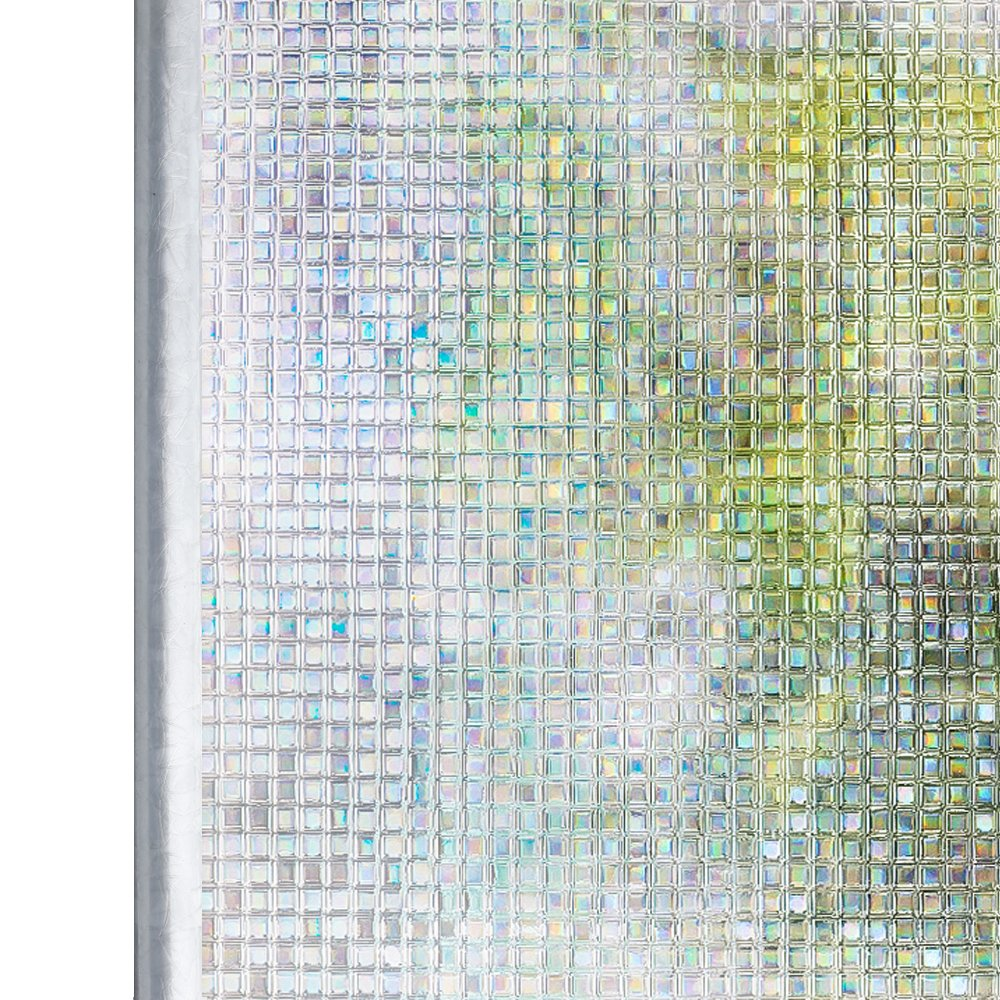 200cm Homein Film Vitre Prot/ége Intimit/é Film Fenetre Electrostatique Anti Regard Beau Effet Arc-en-Ciel Non-adh/ésif Sticker Vitre Motif de Mosa/ïque Maison Bureau Salle de Bain et Cusine 44.5