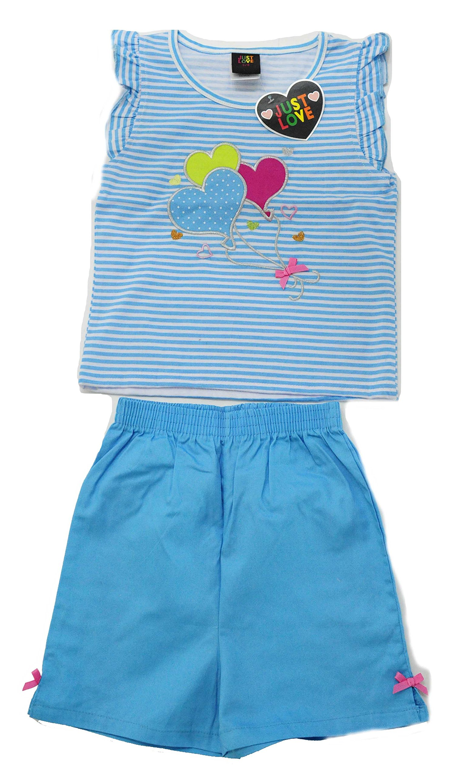 Just Love 4004-5/6 Two Piece Girls Shorts Set