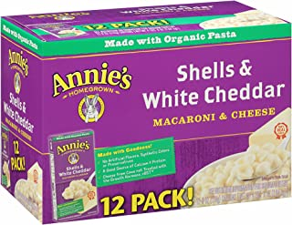 product image for Annie's Shells & White Cheddar Sauce, 6 oz., 12 pk. (pack of 6)