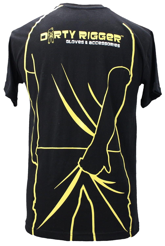 Dirty Rigger T-Shirt Scratching Man, Extra Extra Large - Black
