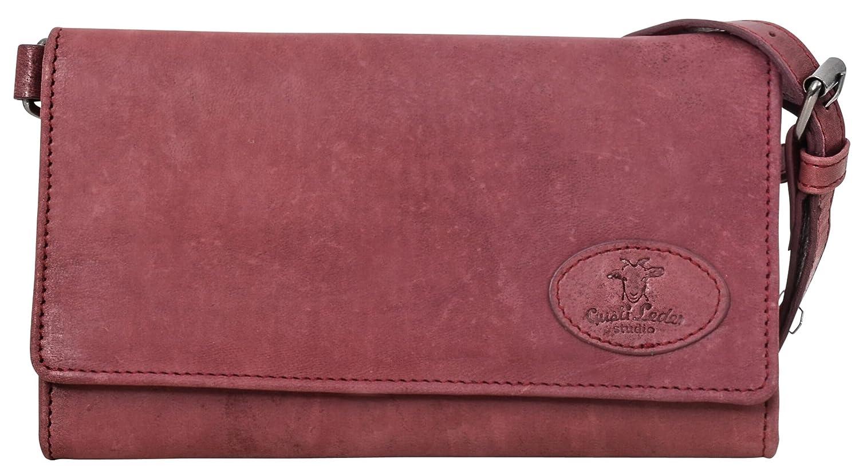Gusti Cuero Studio Giselle Bolso Bandolera Bolsa de Mano Mujer Monedero Bolso de Noche Piel de Cabra Pequeño Rojo Burdeos 2H58 29 3