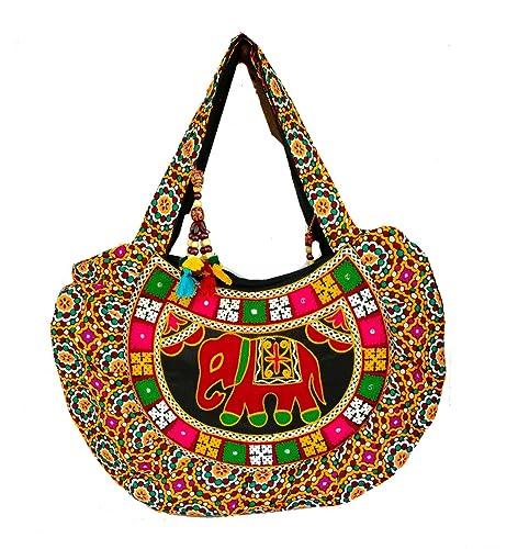 3b9e043f54e9 Rastogi Handicrafts Woolen Embroidery Elephant Design Women Shoulder Hand  Bag Light Weight Purse: Amazon.co.uk: Shoes & Bags