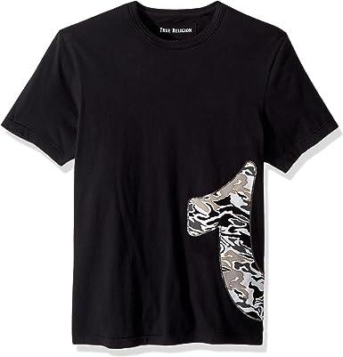 True Religion Pop Camo Camiseta Negra con Logo: Amazon.es: Ropa y accesorios