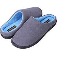 URGARMEE Men Memory Foam Slipers Gifts for Men Teenage,Women Size