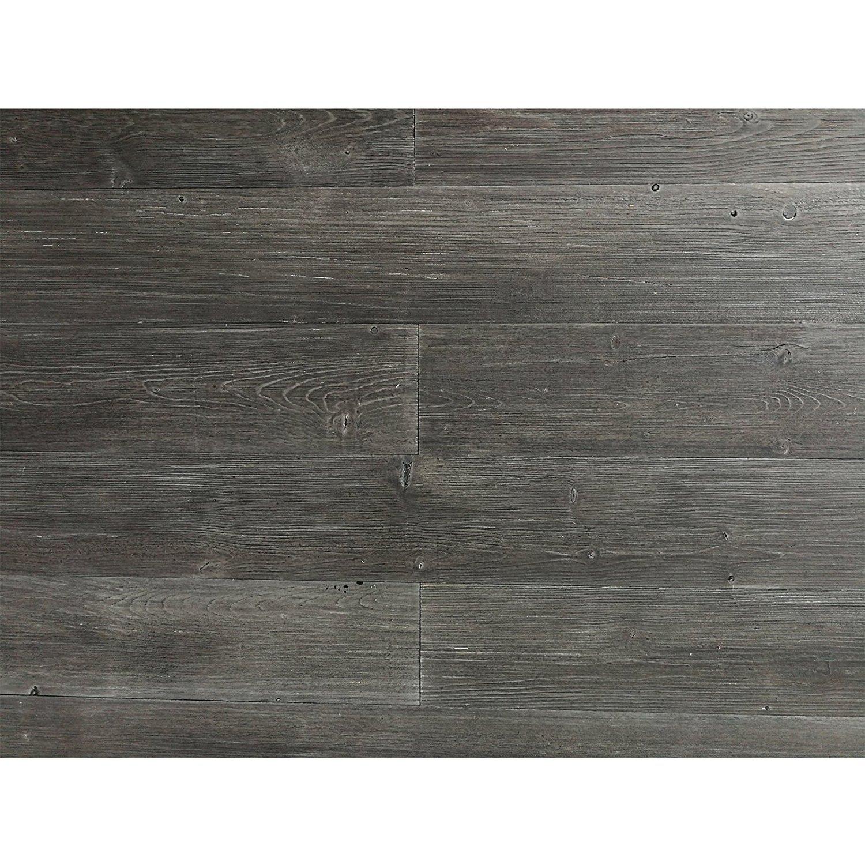Art3d Peel and Stick Wood Wall Panels Reclaimed Wood Plank, Dark Grey (16 Sq Ft)