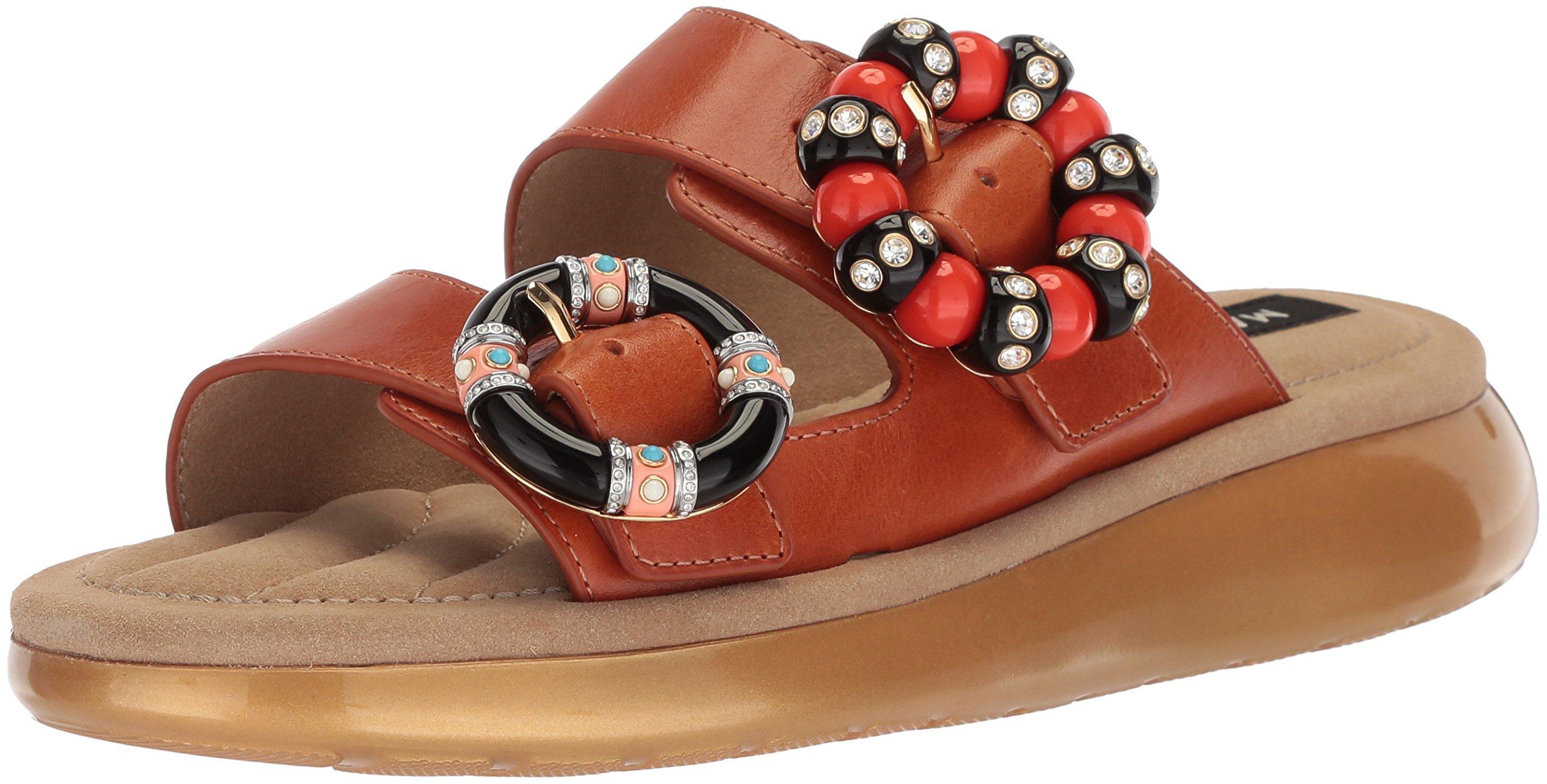Marc Jacobs Women's Sage Embellished Slide Sandal, Luggage, 36 M EU (6 US)