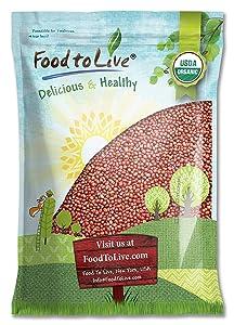 Organic Adzuki Beans by Food to Live (Kosher, Dried, Bulk ) — 10 Pounds