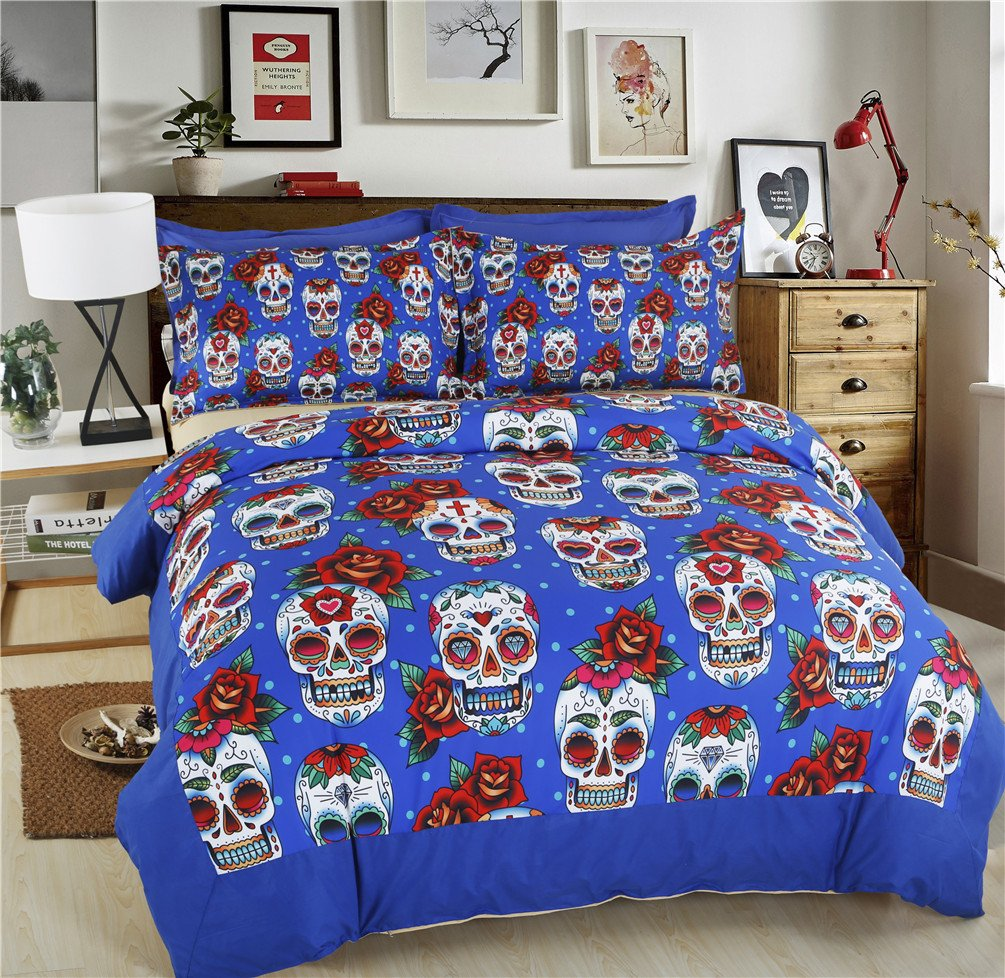 Gorgeous Halloween Decoration Skull 3D Bedding Sets