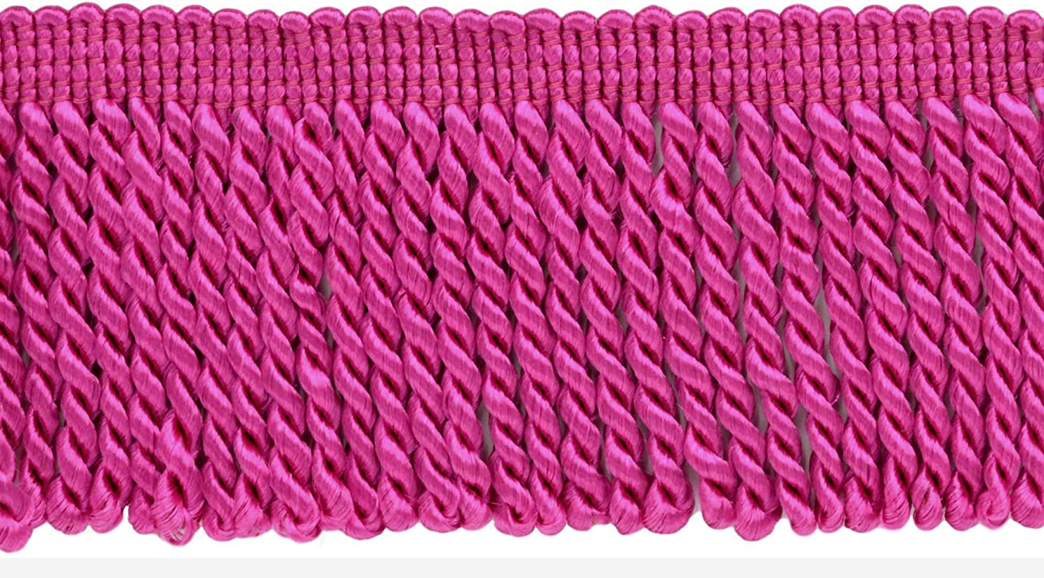 156|Sold by The Yard D/ÉCOPRO 2.5 Inch Hot Pink Bullion Fringe Trim|Style# EF25 Color
