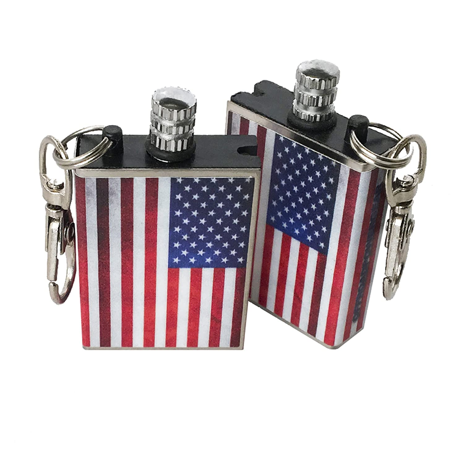 Waterproof Metal Survival American Flag Permanent Match OPG3 P-M-A-F