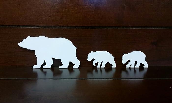 amazon com bear wall art cut out bear wall art bear woodwork