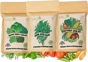 NatureZ Edge Vegetable and Herb Seed Bundle, 30 Varieties, Herb Garden, Seeds for Planting Vegetables