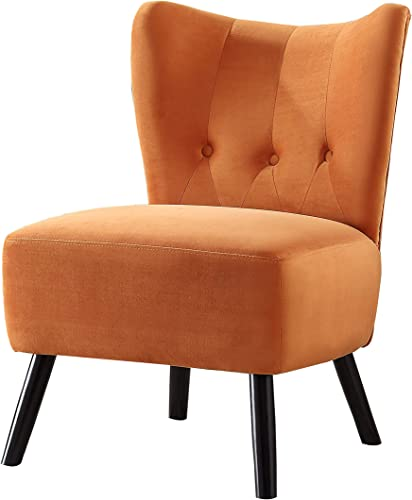 Benjara Upholstered Armless Accent Chair Review