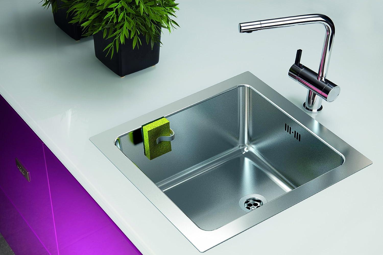 Support magn/étique pour torchon pour /évier de cuisine Installation en 10 secondes avec contre aimant Plastique de Haute Qualit/é Sans aspiration d/'/éponge avec S/échoir pendentif pour /éponge