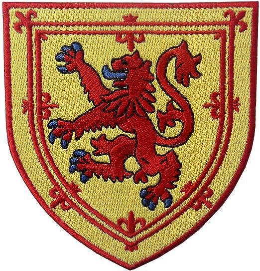 Escudo de armas de Escocia Escudo de león cruzado Parche Bordado ...
