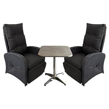 Amazon De Hochwertiges 3tlg Terrassenmobel Lounge Gartenmobel Set
