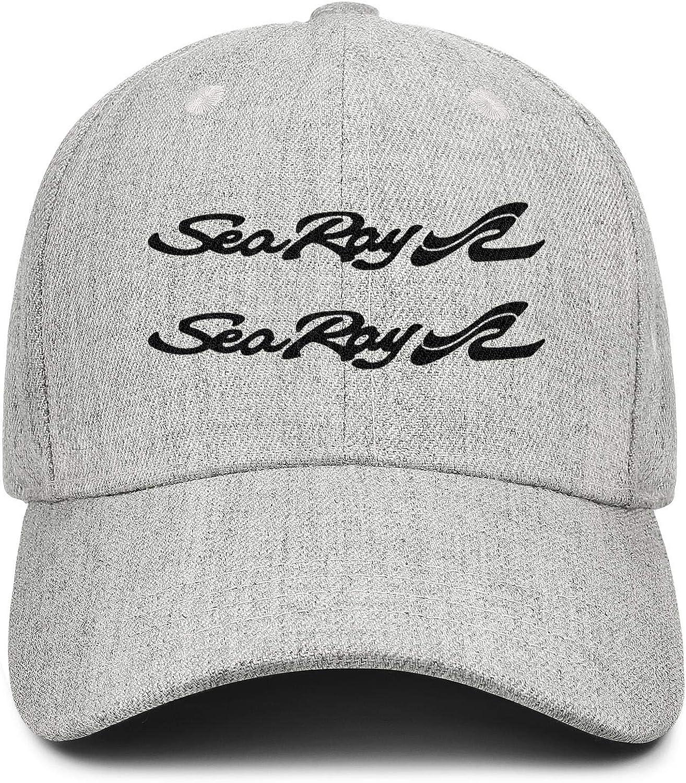 Adjustable Baseball Cap Wool Snapback Dad Hat Sports Unconstructed Trucker Hat LiyeRRy Sea-Ray-Boats-Logo