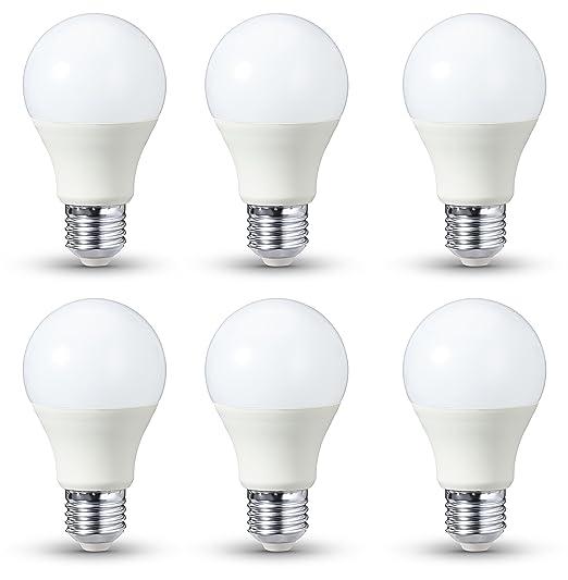 584 opinioni per AmazonBasics- Lampadina LED E27, 9,5 W a 60 W, 810 lumen, non dimmerabile, luce