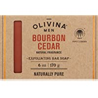 Olivina Men Exfoliating Soap Bar, Bourbon Cedar, 6 fl. oz.