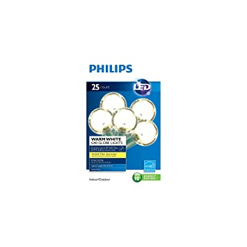 Philips Clear Globe Led String Lights Set Of 25 G40 Bulbs Indoor Outdoor